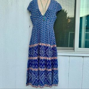 FREE PEOPLE INDIAN HIPPIE PRINT MAXIDRESS